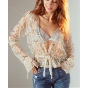 Urban Outfitters gold sequin top